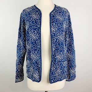 Chico's 100% Linen Jacket Size 1